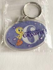 NOS New Looney Tunes Keychain Tweety Bird Worlds Greatest Grandma Warner Bros.