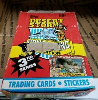 Desert Storm Homecoming 3rd Series Topps Collectible Vintage Trading Card Box