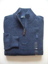Men Polo Ralph Lauren Half Zip MOCK NECK Cotton Sweaters - All Sizes