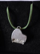 """Piano TG2 English Pewter On 18"""" Green Cord Necklace"""