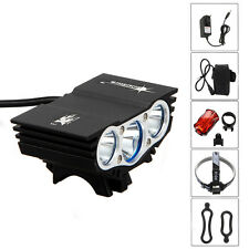 9000lm 3x CREE XML T6 LED SolarStorm Head Bicycle light Bike Lamp Taillight+BY