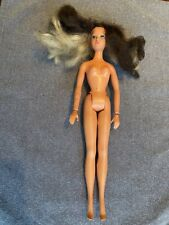 Vintage 1975 Ideal Tuesday Taylor Doll Blonde/Black Swivel Hair Hong Kong