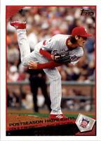 2009 Topps Philadelphia Phillies Baseball Card #299 Cole Hamels HL