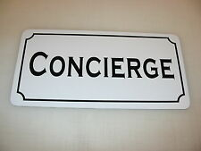 CONCIERGE Metal Sign 4 Hotel Motel Airport Cosplay Girls Clubware TV Movie Props