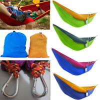 Single Person Fabric Hammock Camping Portable Outdoor Swing Tree Hanging Beds