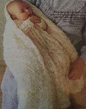 B3 - Knitting Pattern - Cot Blanket / Baby Shawl & Christening Robe 3-ply Babies