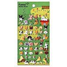 CUTE DOG STICKERS Sheet Puppy Animal Raised Puffy Vinyl Craft Scrapbook Sticker