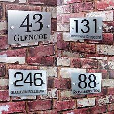 SIGNE numéro de maison adresse PLAQUE porte Décorative Effect verre personnalisé