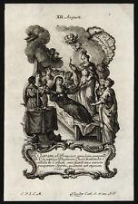 santino incisione 1700 S.CHIARA D'ASSISI  klauber