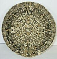 "Traditional Aztec Sun Stone Calendar Mayan Mexico Plaque Art 6 3/4"""