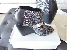 Balenciaga Leather and Snake Skin  Wedge Heels Sz 40 IT 9 US  $1065  New In Box