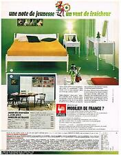 PUBLICITE ADVERTISING 095  1967  MOBILIER DE FRANCE  meubles chambre à coucher