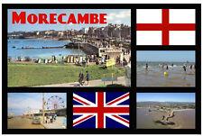 MORECAMBE, LANCASHIRE UK  SOUVENIR NOVELTY FRIDGE MAGNET - SIGHTS / FLAG / GIFTS