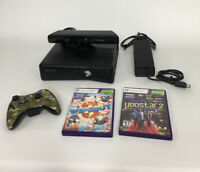Xbox 360 Slim 4GB Console 1439 Model With Kinect Sensor 1 Controller 2 Games