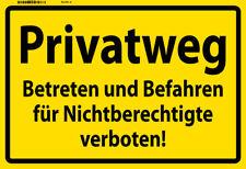 Privatweg Betreten verboten Blechschild Metallschild Schild Tin Sign 20 x 30 cm