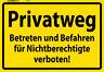 Privatweg Betreten verboten Blechschild Schild gewölbt Metal Tin Sign 20 x 30 cm
