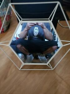 Octagon Wall Mirror with Metal Frame painted white VINTAGE I found a comparable