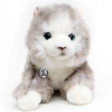 Katze SILVER Norwegische Waldkatze liegend grau 33 cm Kater Hauskatze Plüschtier