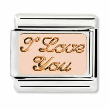GENUINE Nomination Classic Rose Gold I Love You Charm 430101/30