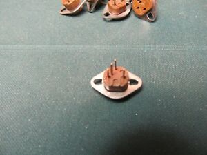 4 Pin Transistor Socket Vintage ELCO USA panel chassis mount transister QTY