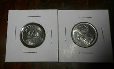 CANADA 1970 25 CENTS AND 19705 CENTS NICKEL COIN BOTH UNC/BU