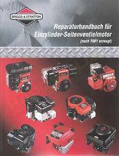 Briggs & Stratton Reparaturhandbuch Werkstatthandbuch 1-Zylinder Seitenventil