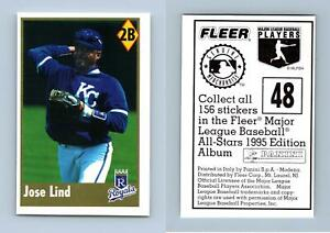 Jose Lind #48 Fleer Major League Baseball All-Stars 1995 Panini Sticker