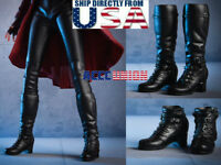 """1/6 Women Boots A For Avengers Scarlet Witch 12"""" Hot Toys PHICEN Female Figure"""