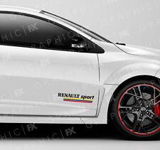 x2 Premium Renault Sport Logo Car Bodywork Stickers - Clio Megane Duster