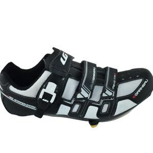 New LOUIS GARNEAU Revo XR3 Cycling Shoes Mens 11.5 Black White 3 Bolt