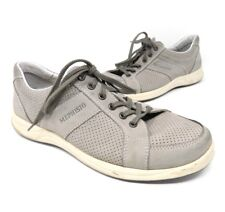 Mephisto Mens Sneakers Size 8 Runoff Air Jet System Gray Leather Lace Up