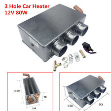 3 Hole Dual Fan Car Heating Cooling Heater Defroster Demister Universal 80W 12V
