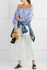BNWT NEW J.Crew made Collection Thomas Mason Striped Off The Shoulder Shirt well
