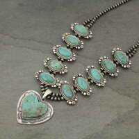 *NWT* Full Squash Blossom Natural Turquoise Necklace-7325300089