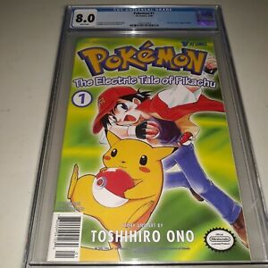 Pokemon The Electric Tale of Pikachu #1 CGC 8.0 ( 1999 )  Newsstand First Print
