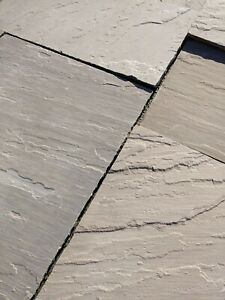 INDIAN SANDSTONE PAVING CALIBRATED ROOFING. MIXED SIZES JUST £16.80m2 INC VAT*
