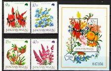 Hungary 1992 Sc3371-5 $ 8.55 Mi4220-3,B223 9.5 MiEu 4v+1SS mnh Flowers Australia