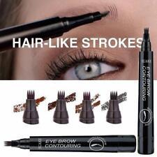 4-Tip Fork Microblading Eyebrow Pencil Tattoo Pen Waterproof Lasting Makeup