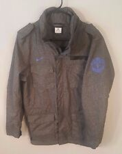 NIKE MANCHESTER UNITED Football M65 Rain Jacket Raincoat Charcoal S Small