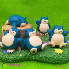 5 pcs Pokemon Go Pocket Monster Snorlax Action Figure set Doll Cake Topper Toy