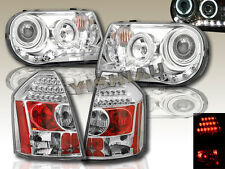 05-07 CHRYSLER 300C SRT8 CHROME CCFL HALO PROJECTOR HEADLIGHTS + LED TAIL LIGHTS