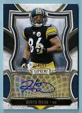 HINES WARD 2015 TOPPS SUPREME AUTHENTIC SIGNATURE AUTOGRAPH AUTO /50 STEELERS