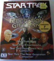 PC Software Star Trek: Federation Gift Pak (1999, 7 CD-ROMs)
