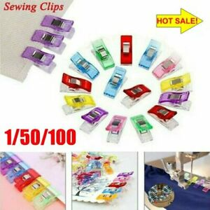 Plastic Quilter Holding Wonder Clips Clamps Sewing Craft Binding 1/50/100PCS HU