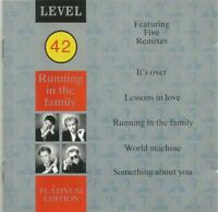 Level 42 - Running In The Family Platinum Edition 1987 West German pressed CD