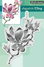 Unfolding Flower, Cling Style Unmounted Rubber Stamp PENNY BLACK - NEW, 40-450