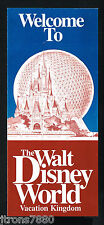 Welcome to Walt Disney World Brochure 1983 Bi-fold Vacation Kingdom FREE Ship