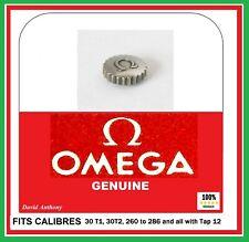 """Steel GENUINE OMEGA Watch Winder Crown """"Hermetic""""Ø 4.9mm 30 T2 260 to 286 Tap12"""