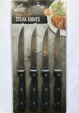SET OF 4 NEW STAINLESS STEEL KITCHEN CUTLERY SETS STEAK KNIVES SERRATED EDGES