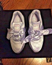 New PUMA Size 8 FENTY X RIHANNA SATIN BOW Lavender Walking Shoe Sneakers